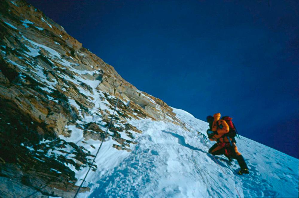 Dragan Jaćimović u podnožju južnog vrha tokom uspona na Mont Evereset u maju 2020.