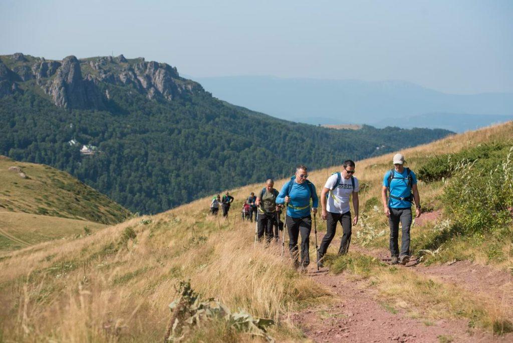 planinari u pokretu