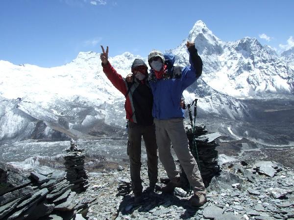 Slikanje nakon uspesno popetog vrha.