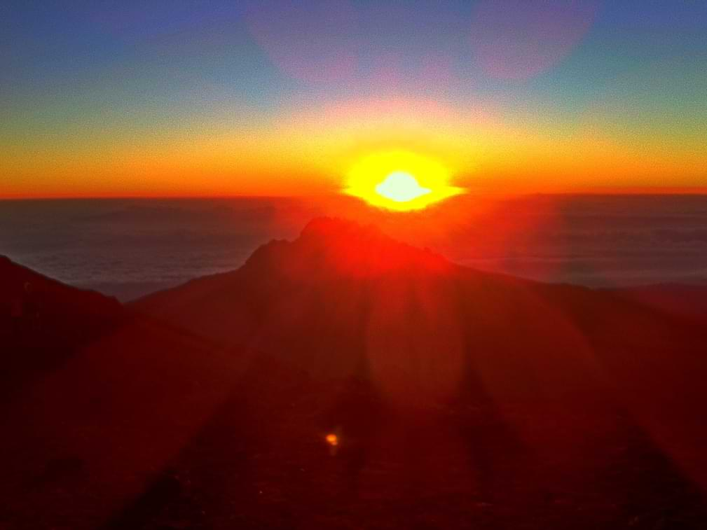 Pogled sa vrha Kilimanjara
