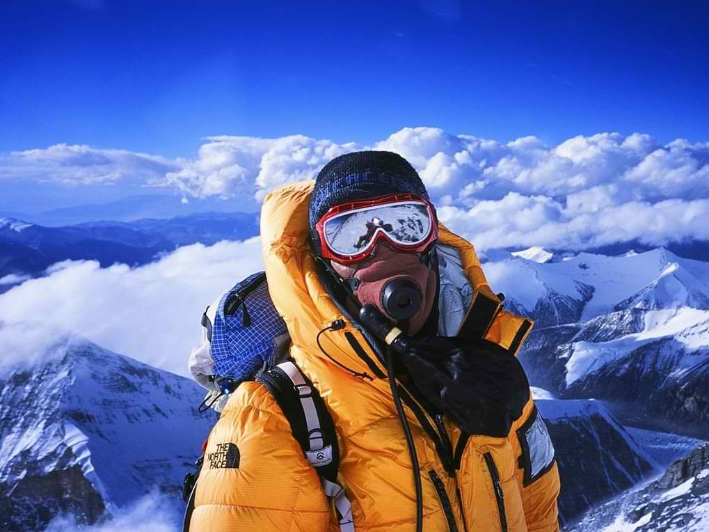 Alpinista sa kiseonskom bocom